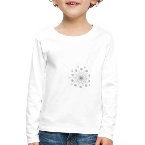 Schlicht und modernes Muster - Kinder Premium Langarmshirt