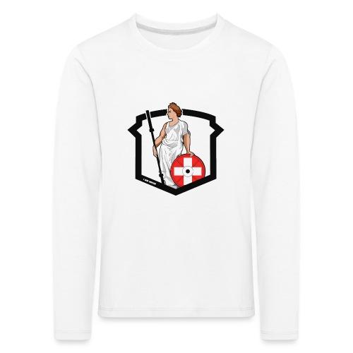 Helvetic Weightlifting Girl - Kinder Premium Langarmshirt
