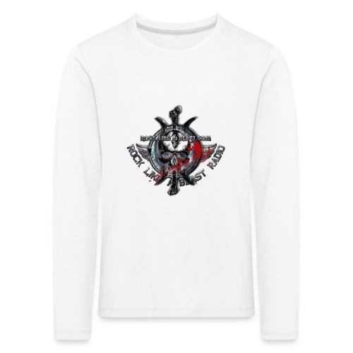 Blood Skull Logo - Långärmad premium-T-shirt barn