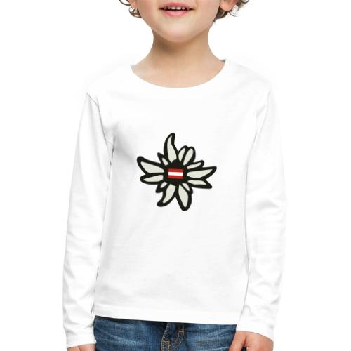Edelweiss Austria - Kinder Premium Langarmshirt