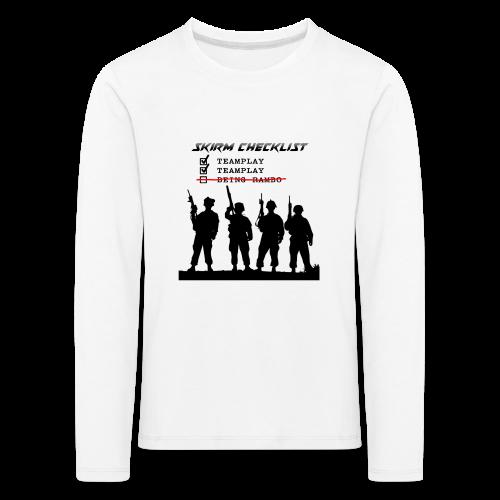 Skirm Checklist - Kinderen Premium shirt met lange mouwen