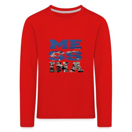 MESSINA RED - Maglietta Premium a manica lunga per bambini
