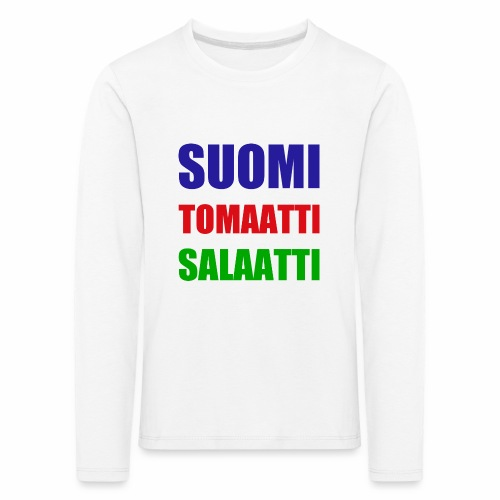SUOMI SALAATTI tomater - Premium langermet T-skjorte for barn