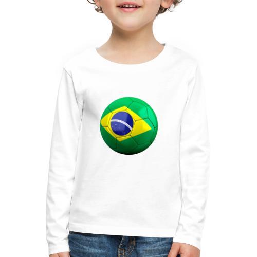 Bola de futebol brasil - Kids' Premium Longsleeve Shirt
