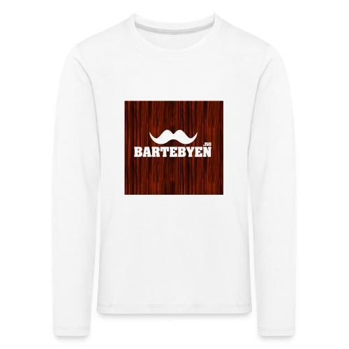 logo bartebyen buttons - Premium langermet T-skjorte for barn