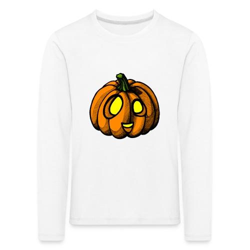 Pumpkin Halloween scribblesirii - Børne premium T-shirt med lange ærmer