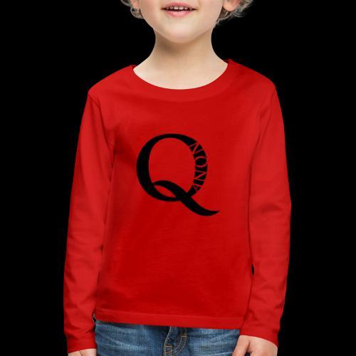 Q Anon Q-Anon Original Logo - Kinder Premium Langarmshirt