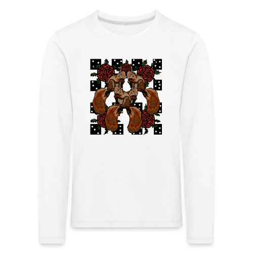 Cute Squirrels - Børne premium T-shirt med lange ærmer
