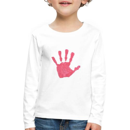 Hand - Långärmad premium-T-shirt barn