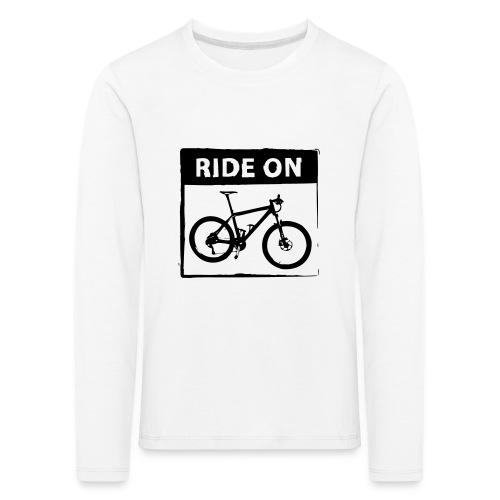 Ride On MTB 1 Color - Kinder Premium Langarmshirt