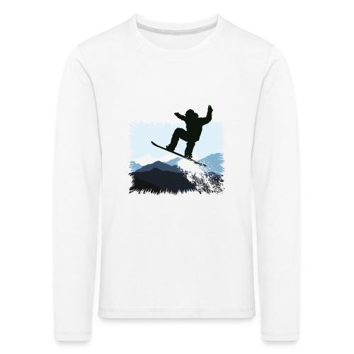Snowboarder Action Jump   Apresski Shirt gestalten - Kinder Premium Langarmshirt