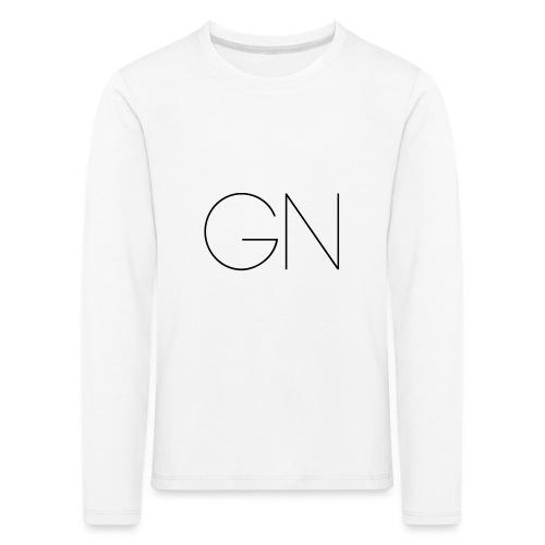 Långärmad tröja GN slim text - Långärmad premium-T-shirt barn