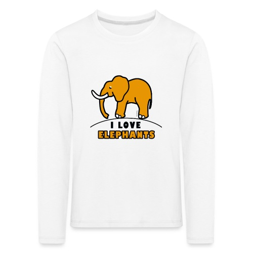 Elefant - I LOVE ELEPHANTS - Kinder Premium Langarmshirt