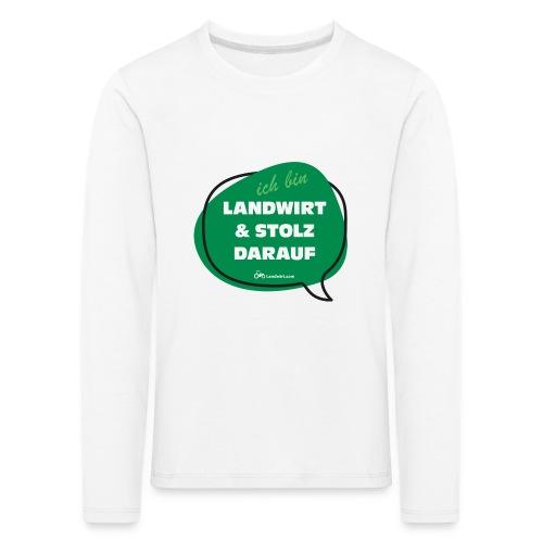 Landwirt und stolz darauf - Kinder Premium Langarmshirt