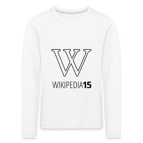 W, rak, vit - Långärmad premium-T-shirt barn