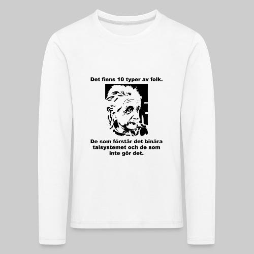 Det finns 10 Typer - Långärmad premium-T-shirt barn
