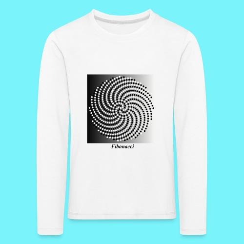 Fibonacci spiral pattern in black and white - Kids' Premium Longsleeve Shirt