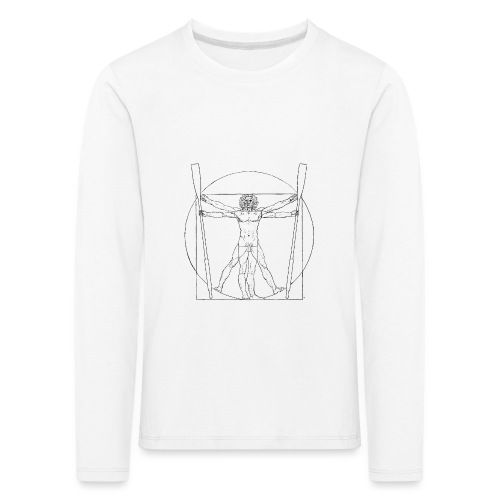 Vitruvian Skiffie black - Kids' Premium Longsleeve Shirt