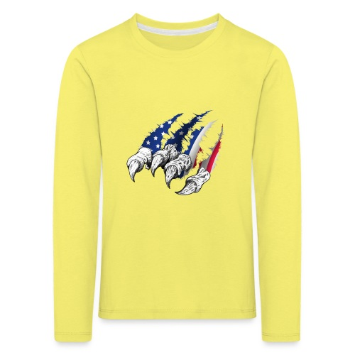 American Flag Claw - Kids' Premium Longsleeve Shirt
