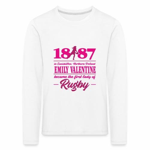 Marplo Emily Valentine magenta - Maglietta Premium a manica lunga per bambini