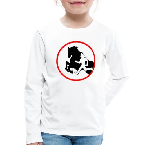 Horse Agility Logo - Kinder Premium Langarmshirt