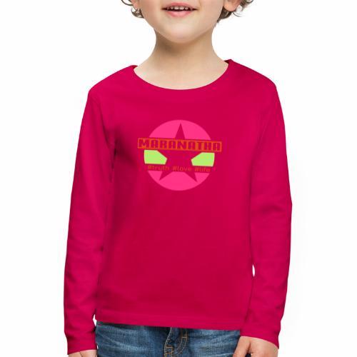 maranatha rosa-grün - Kinder Premium Langarmshirt