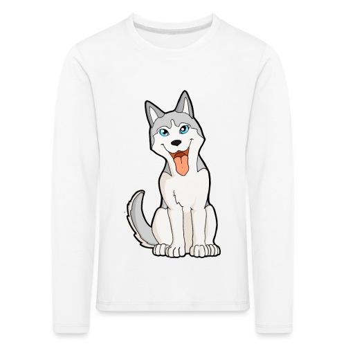 Husky grigio occhi azzurri - Maglietta Premium a manica lunga per bambini