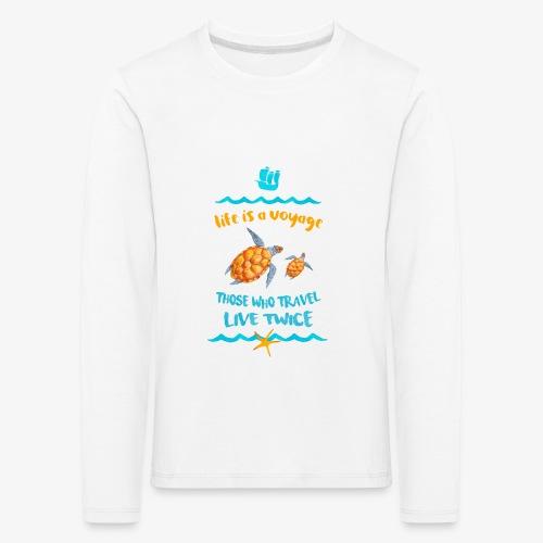 life is a travel - Koszulka dziecięca Premium z długim rękawem