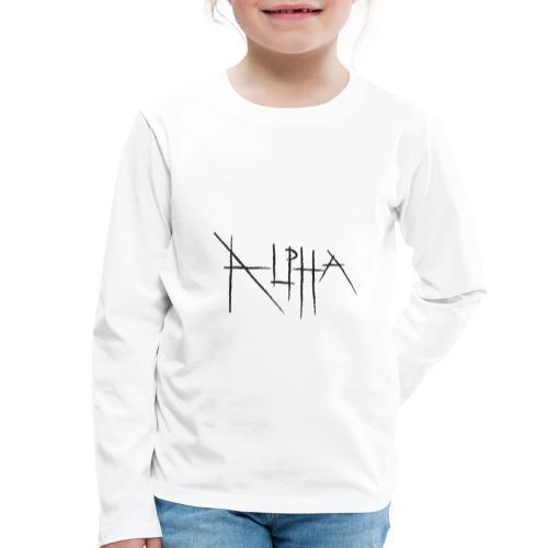 alpha text - Maglietta Premium a manica lunga per bambini