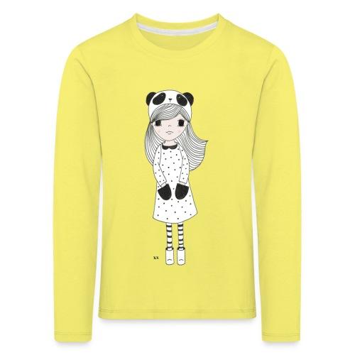 panda meisje - Kinderen Premium shirt met lange mouwen