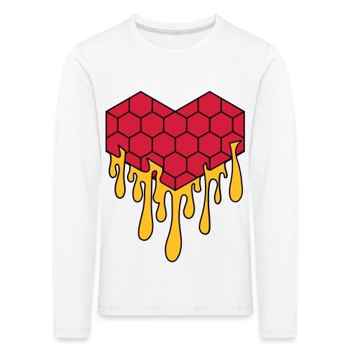 Honey heart cuore miele radeo - Maglietta Premium a manica lunga per bambini