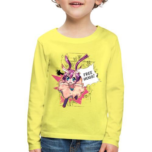Free hugs (black lines) - Kids' Premium Longsleeve Shirt