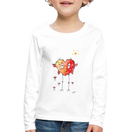 Happy heart - Kinder Premium Langarmshirt