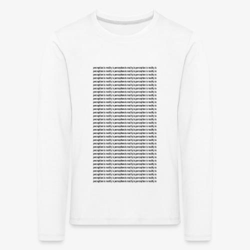 perception - Koszulka dziecięca Premium z długim rękawem