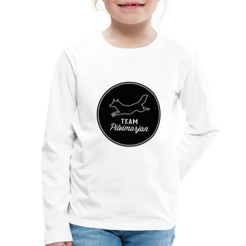 pilvimarjanlogomustaa - Lasten premium pitkähihainen t-paita
