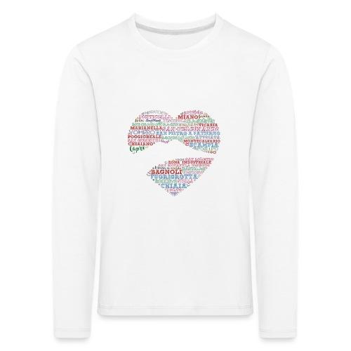 I Luoghi di Napoli di CuordiNapoli - Maglietta Premium a manica lunga per bambini