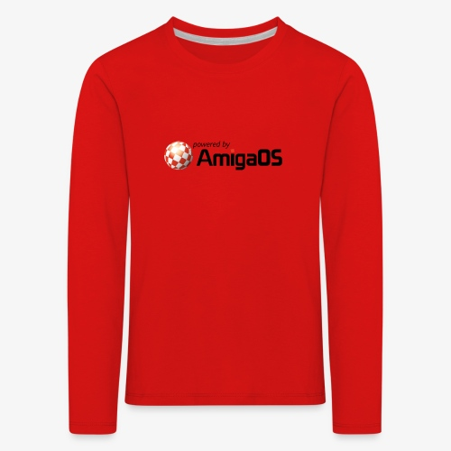 PoweredByAmigaOS Black - Kids' Premium Longsleeve Shirt