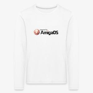 PoweredByAmigaOS Black - Kids' Premium Longsleeve Shirt