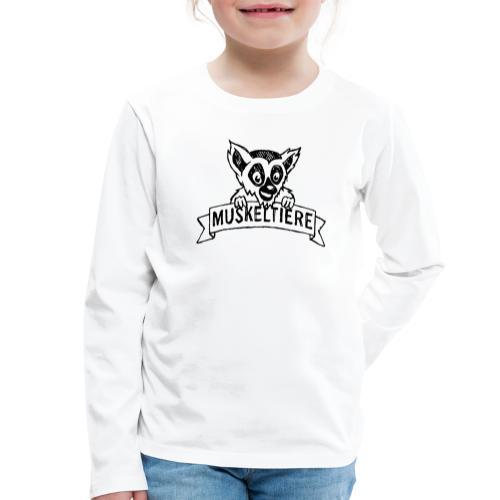 MUSKELTIERE_Logo_black - Kinder Premium Langarmshirt