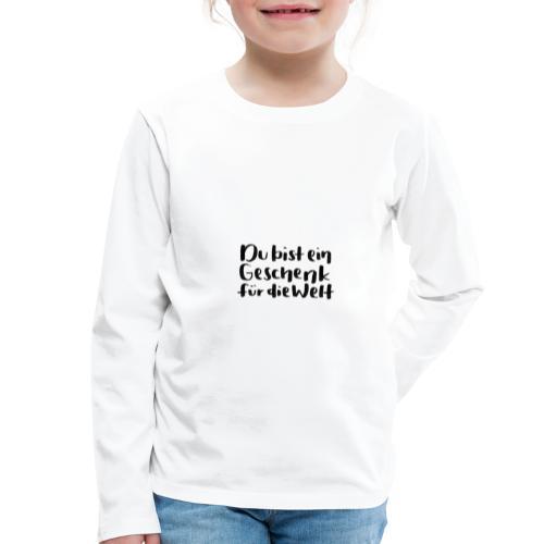 Montanjas Geschenk für die Welt - Kinder Premium Langarmshirt
