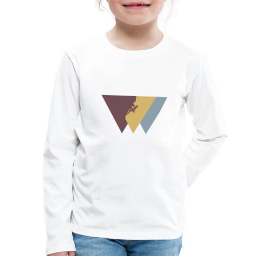 Klettrerin beim Klettern - Kinder Premium Langarmshirt