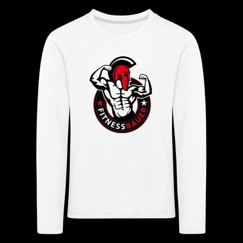 FitnessBauer in Rot - Kinder Premium Langarmshirt