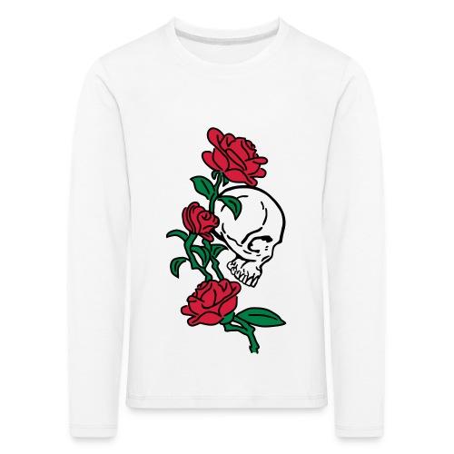 teschio e rose es123_2 - Maglietta Premium a manica lunga per bambini