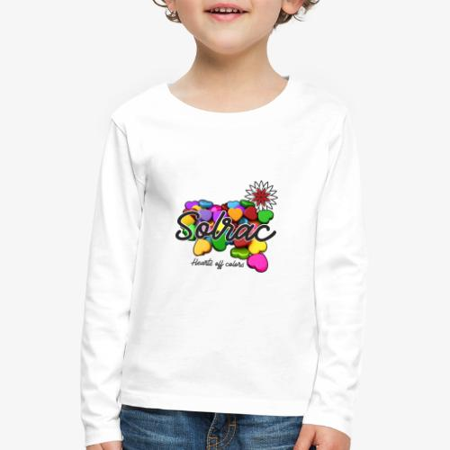 SOLRAC Hearts White - Camiseta de manga larga premium niño