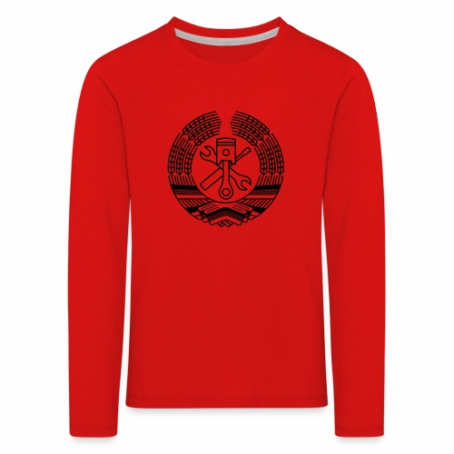 DDR Tuning Coat of Arms 1c (+ Your Text) - Kids' Premium Longsleeve Shirt