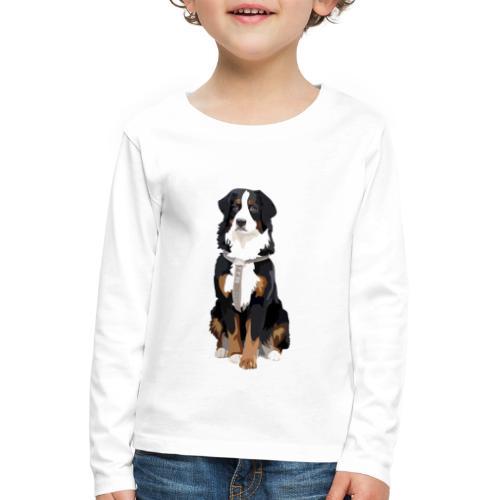 Freja sitter framifrån - Långärmad premium-T-shirt barn