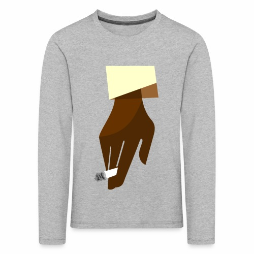 Hand mit Kippe - Kinder Premium Langarmshirt