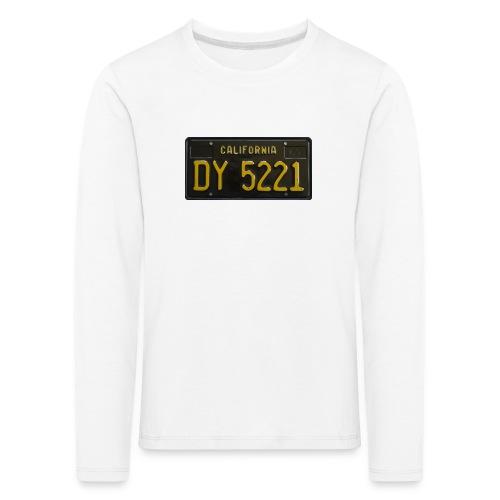 CALIFORNIA BLACK LICENCE PLATE - Kids' Premium Longsleeve Shirt