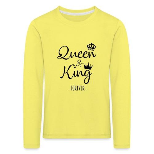 Queen and King Forever - Camiseta de manga larga premium niño