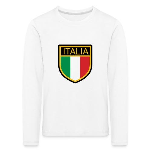 SCUDETTO ITALIA CALCIO - Maglietta Premium a manica lunga per bambini